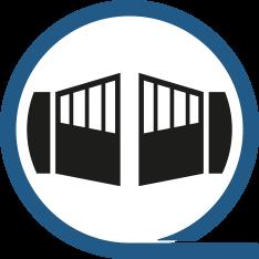 Portail industriel ou résidentiel, aluminium ou acier. Portail coulissant sur rail, autoportant ou pivotant